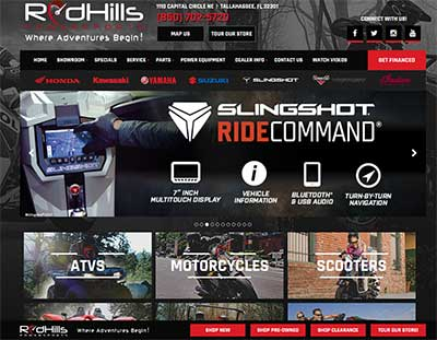 Red Hills Powersports for your motorcycle needs